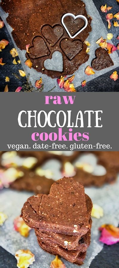 Raw vegan chocolate cookies. Vegan, gluten free, date free. Just 4 ingredients to make these delicious raw cookies!