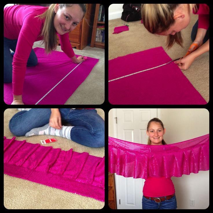 Measure, Cut, Ruffle, Sew! DIY Running Skirt :)