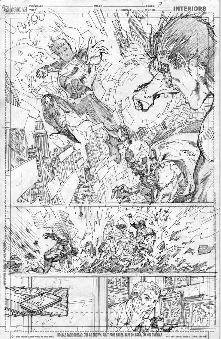 Justice League #2 pg 8 by Jim Lee