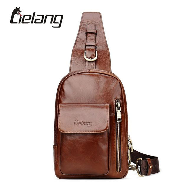 Promotion price LIELANG Brand New Bag Men Chest Pack Small Travel Bags Genuine Leather Mens Crossbody Bag Vintage Men's Shoulder Strap Bags just only $34.50 with free shipping worldwide  #crossbodybagsformen Plese click on picture to see our special price for you
