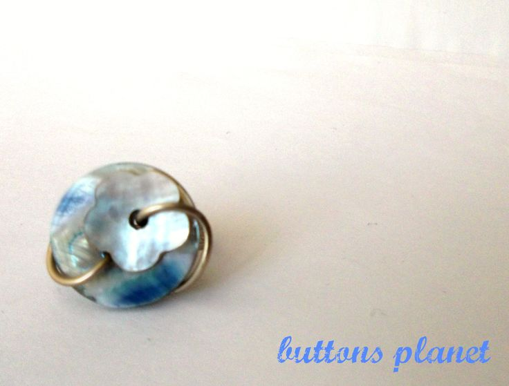 #button #ring #blue #flower