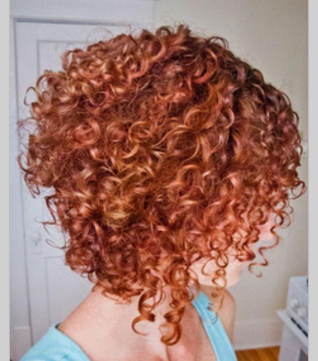 cute curly inverted bob