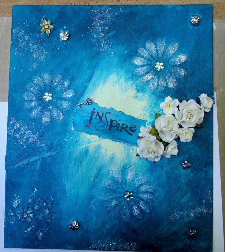 Mixed Media canvas created at workshop. First one for me, need to try some more.