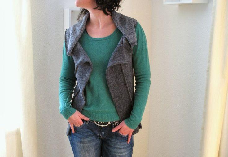 DIY: Schnelle Weste (simple waistcoat) German Tutorial