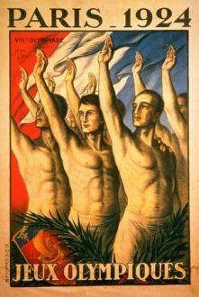 Logo dos Jogos Olímpicos de Paris, em 1924