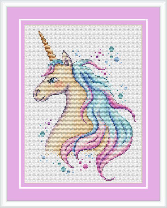 Cute Unicorn Cross Stitch Pattern Unicorn Embroidery Baby Cross Stitch Xstitch Pattern Unicorn P Baby Unicorn Cute U Kreuzstich Niedliches Einhorn Einhorn