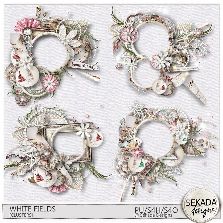 Collections :: W :: White Fields by Sekada Designs :: White Fields [Clusters]