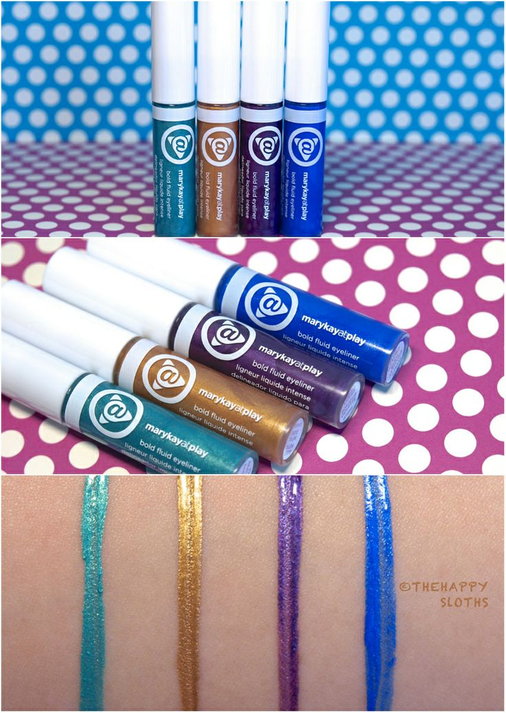 Mary Kay At Play Bold Fluid Eyeliner Review and Swatches