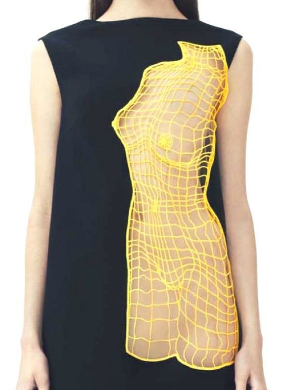 "patternprints journal: INNOVATIVE AND AMAZING PATTERNS WITH ""WIREFRAME"" EFFECT INTO CHRISTOPHER KANE RESORT 2014 FASHION COLLECTION"