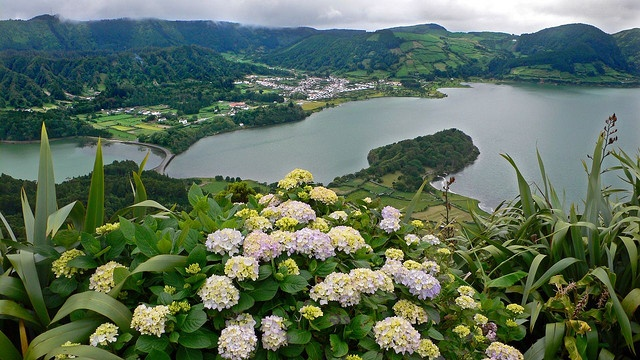 Azores - Sete Cidades on San Miguel Island, Portugal