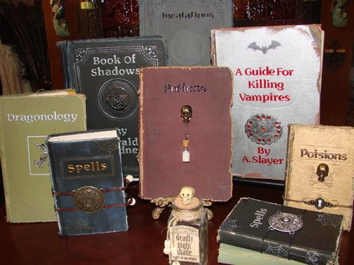 how to make halloween spell books -