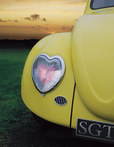 "Someday we will own a classic beetle. Volkswagen Beetle ""Heart light"""