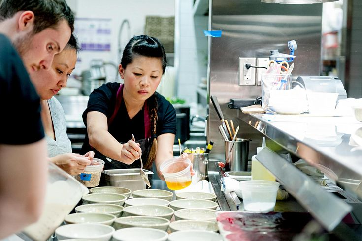 Born in China, Top Chef Season 12 winnerMei Lein was whisked away as a child into the very different, auto-manufacturing community of Dearborn, Michigan. Here, her family opened a Chinese restaurant where Mei learned her way around the kitchen.