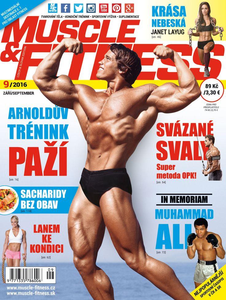 V čísle M&F 9/2016 s Arnoldem na titulce najdete Arnoldův nejlepší trénink paží, vzpomínku na Muhammada Aliho, tréning s omezeným průtokem krvi, recepty na zdravá jídla a další tipy z oblasti fitness a výživy.