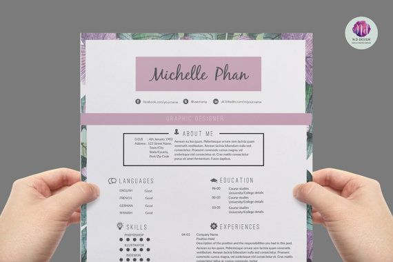 CV template  cover letter template  reference by ChicTemplates