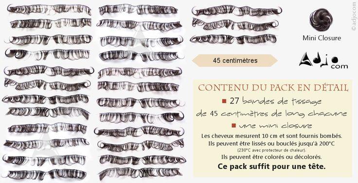 Pack Tissages brésiliens Courts Ondulés Naturels 4 pouces Vierge Remy