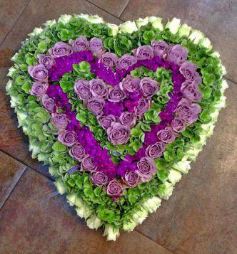 Rouwstuk hart vorm