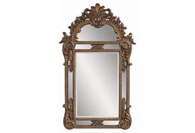 This ornate French gold floor mirror is a show-stopper.