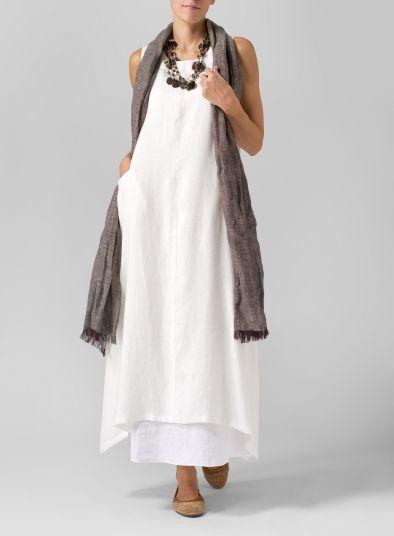Linen Sleeveless Long Dress