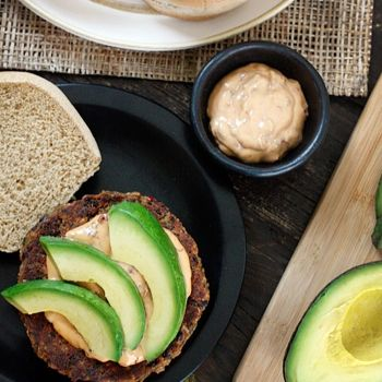 Image for Spicy Black Bean Burgers with Chipotle Mayonnaise