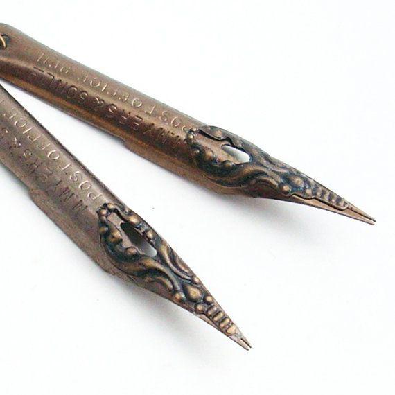 Vintage Pen Nib Earrings