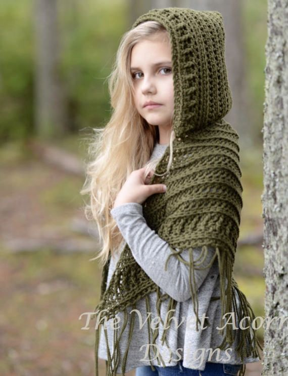 Listing for CROCHET PATTERN ONLY of The Brocade Shawl.  This hooded shawl is handcrafted and designed with comfort and warmth in mind…Perfect accessory for all seasons.  All patterns are american english written instructions in standard US standard terms.  **Sizes included are toddler, child and adult sizes. **Aran/Worsted weight yarn used.  ***NO shipping charge for this item as it is a PDF file. All files are emailed out within 24 hours of payment. If you do not receive your purchase ...