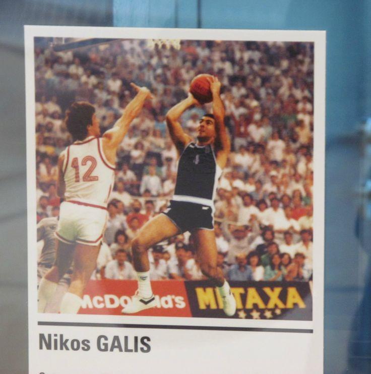 L'immagine di Nikos Galis nella gallery dei giocatori che hanno fatto la storia del basket
