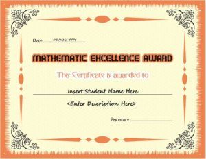 133 best certificates images on pinterest confidence and lions mathematics excellence award certificate template for ms word download at httpcertificatesinn yelopaper Gallery