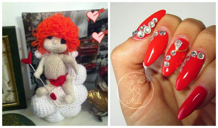 Betty Nails: Valentines Day Nails & Crochet Cupid #mumdidit