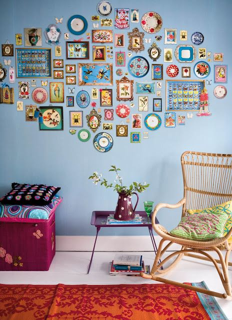 Eclectic and colorful.