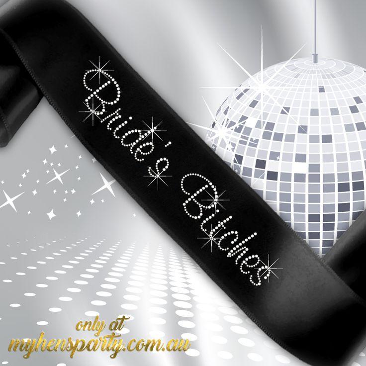 Brides Bitches Sash - Diamante
