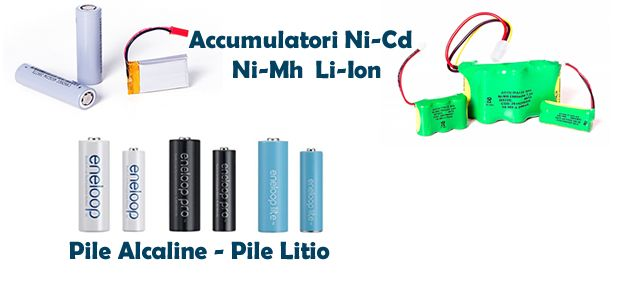 PILE ALCALINE LITIO   ACCUMULATORI NI-MH LI-ION