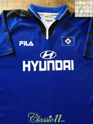 e144875f9 Official Fila Hamburger HSV away football shirt from the 1999 00 season.