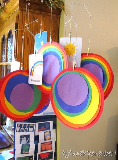 Rainbow Circle Craft -laminate and use velcro tabs so they can redo at home