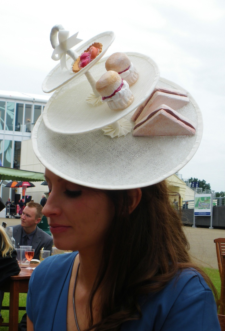Unique Afternoon Tea Hat at Royal Ascot - someone teach me how to make this STAT!