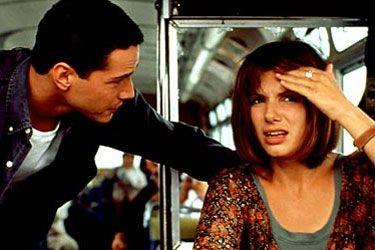 "Sandra Bullock and Keanu Reeves in ""Speed"""