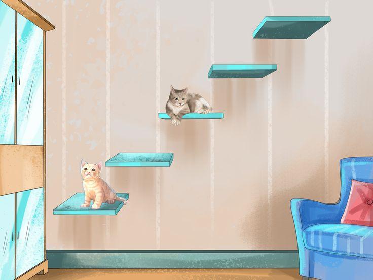 Los gimnasios, parques de juego y árboles para gatos son costosos. Muchas personas a las que les gustaría proporcionarles un equipo de juego dentro de casa a sus gatos no pueden costeárselos. No obstante, puedes construir tu propio mueble p...