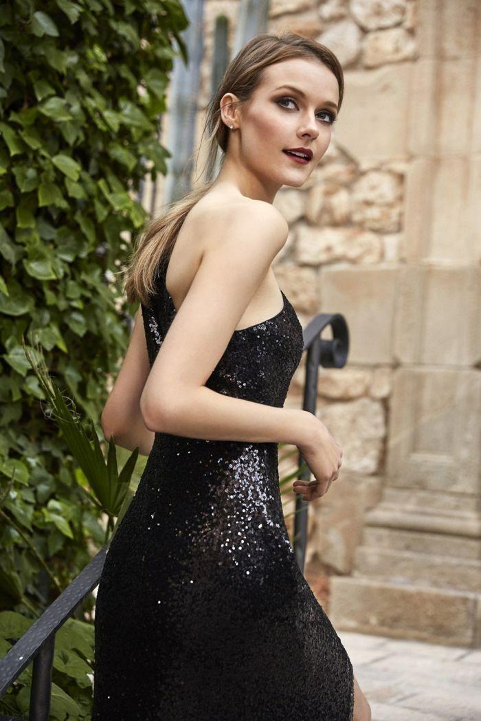 Maquillaje invitada boda vestido negro