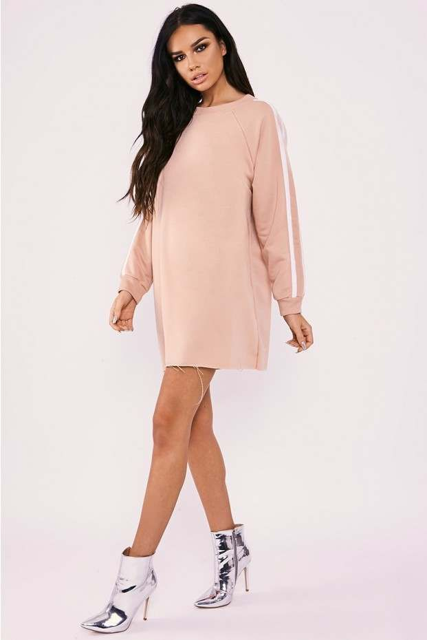 39eac570ad Sarah ashcroft blush sports stripe oversized jumper dress in 2018 ...