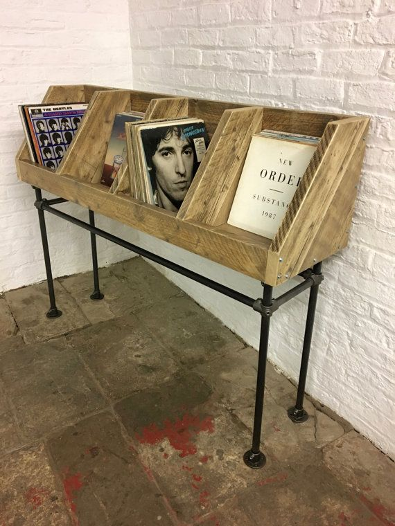 industrial style furniture. portishead scaffolding board and gas pipe record storage unit made to measure industrial style furniture a