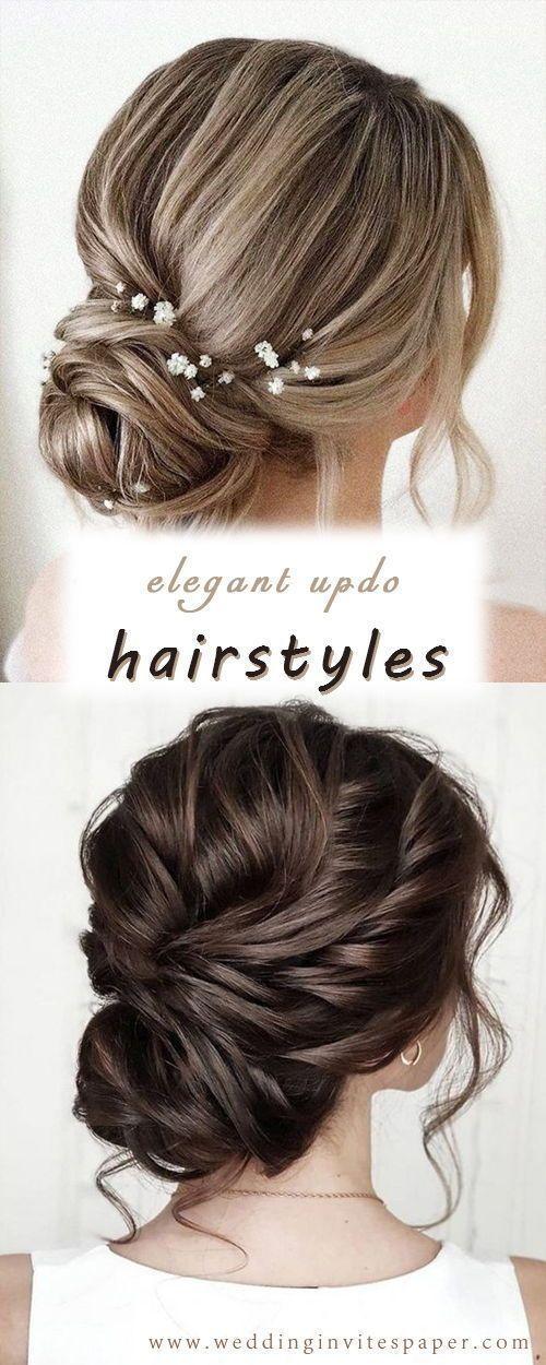 42 Gorgeous Wedding Hairstyles—elegant updo hairstyle, vintage weddings, rustic weddings – #elegant #gorgeous #hairstyle #hairstyles