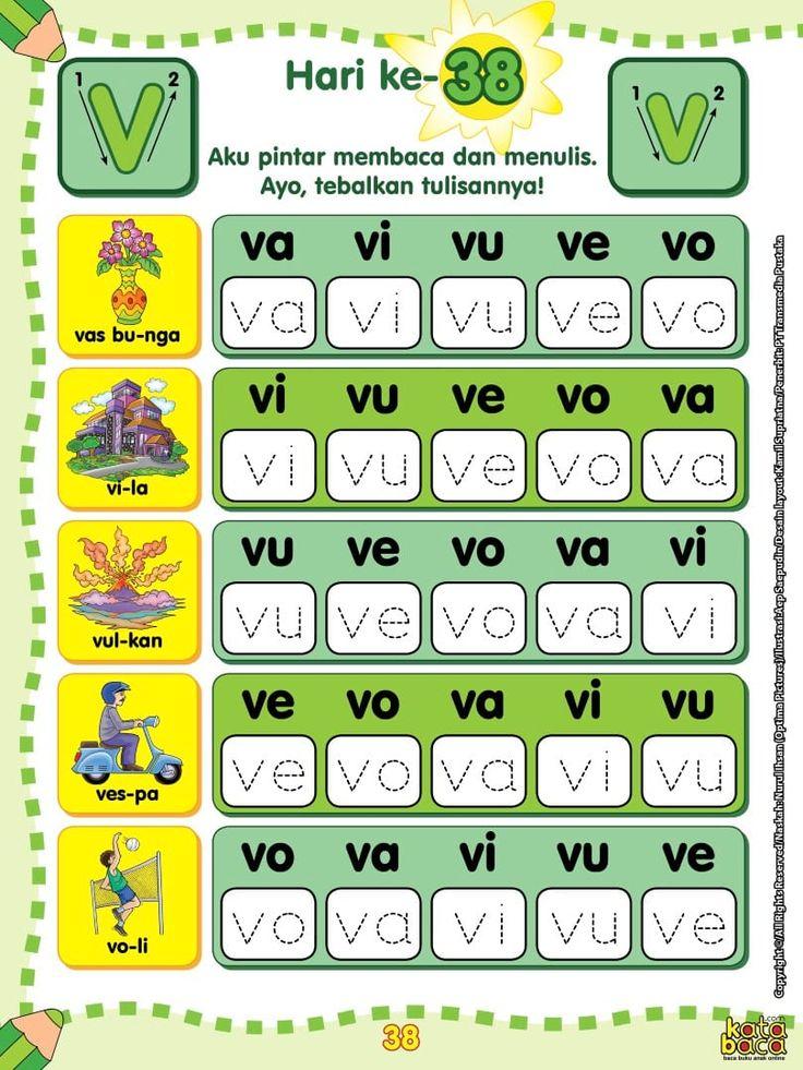 Baca Online Buku 60 Langkah 60 Hari Aku Pintar Membaca Dan Menulis Untuk Anak Usia Tk Dan Paud Tentang Metode Pembelajaran Praktis Dan Buku Kartu Flash Belajar Kindergarten literacy activities online