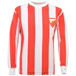 Red Star Belgrade 1960s Kids Retro Football Shirt Red Star Belgrade 1960s Retro Football Shirt NB: The badge/embroidery may appear on an alternative stripe than pictured, depending on the size of the shirt. http://www.MightGet.com/may-2017-1/red-star-belgrade-1960s-kids-retro-football-shirt.asp