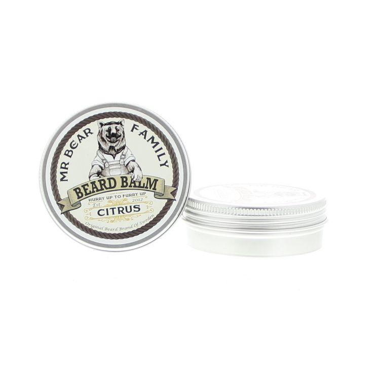 Mr Bear Family Beard Care Beard Balm Balsem Citrus 60ml  Mr Bear Family Beard Balm Citrus. Mr Bear's Beard Balms zijn gemaakt van uitsluitend natuurlijke oliën en andere natuurlijke ingrediënten handelen hydraterend en voedend op de baard. De baard zier weelderiger en voller uit terwijl het roodheid irritatie jeuk en droge huid verlicht. De baard krijgt een natuurlijke verzorgde look. Met een heerlijk frisse citrusgeur. Gebruik: Neem wat balsem uit het blik en maak het zacht tussen je handen…