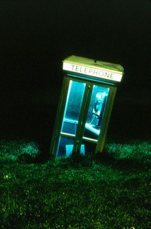 911, 1988 Telephone Cabin, computer, sound installation Dimensions variable