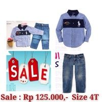 Setelan Mini Jeans Polo Horse Blue