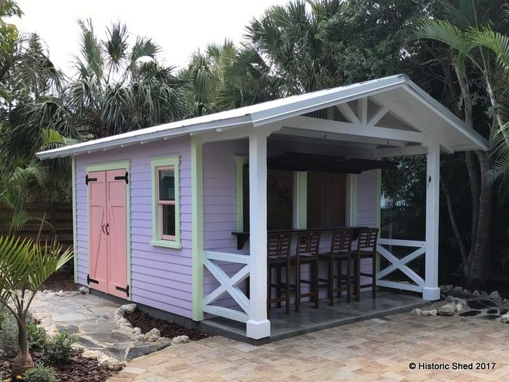 Description And Photos Of A Fun, Tropical Themed Pub Shed Built By Historic  Shed In Florida.