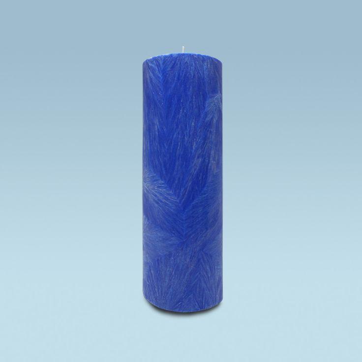 Chandelles rondes bleue avec effet cristal 100% naturelle (130 heures)