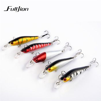 Fishing Lures Minnow Hard Wobblers Crankbait 3D Eyes Gold-plated Plastic Laser Reflective Baits Winter Fishing Decoy Tools  Price: 0.66 USD