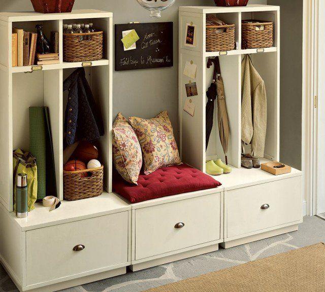 meuble de rangement pour l'entrée contemporain en blanc